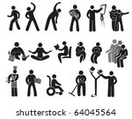 icons of activities of people... | Shutterstock .eps vector #64045564