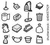 cleaning objects  icons set  ... | Shutterstock .eps vector #640457929