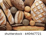 bread background  top view of... | Shutterstock . vector #640467721