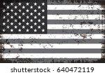 grunge usa flag.vintage... | Shutterstock .eps vector #640472119