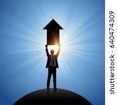 upwards. business vector... | Shutterstock .eps vector #640474309