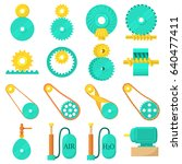 moving mechanisms icons set.... | Shutterstock .eps vector #640477411