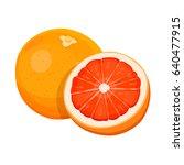 ripe grapefruit isolated on... | Shutterstock .eps vector #640477915