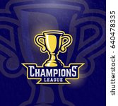 champions league prize cup.... | Shutterstock .eps vector #640478335