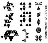 multiple design elements... | Shutterstock . vector #640479181