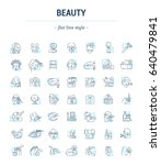 vector graphic set. icons in... | Shutterstock .eps vector #640479841