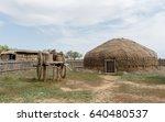 Small photo of Mongol Empire. The capital of the Golden Horde - Sarai Batu.Traditional mongolian Dwelling-yurt. (Reconstruction)