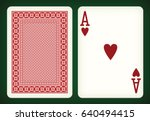 ace of hearts   playing cards... | Shutterstock .eps vector #640494415