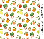 colorful seamless pattern with... | Shutterstock .eps vector #640495075