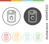 vector set of canned vegetables ... | Shutterstock .eps vector #640495321