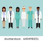 medical characters flat people. ... | Shutterstock .eps vector #640498351