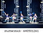 blurred cheerleaders... | Shutterstock . vector #640501261
