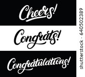 set of cheers  congrats ... | Shutterstock .eps vector #640502389