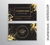 vector golden business card....   Shutterstock .eps vector #640503109