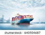 logistics import export... | Shutterstock . vector #640504687