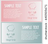 business cards design chef hat... | Shutterstock .eps vector #640505671