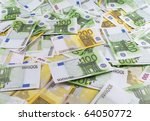 a lot of banknotes one hundred... | Shutterstock . vector #64050772
