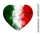 Love Italy. Watercolor Heart...