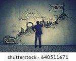 business career challenges... | Shutterstock . vector #640511671