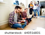 group of college students | Shutterstock . vector #640516831