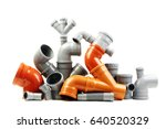 composition from plastic sewer...   Shutterstock . vector #640520329
