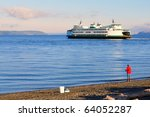 Automobile Ferry Crossing Wate...