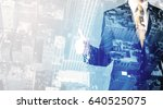 business person standing with...   Shutterstock . vector #640525075
