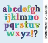 vector set colorful 3d hand... | Shutterstock .eps vector #640530601