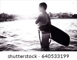 sport girl in bikini on the... | Shutterstock . vector #640533199