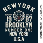 brooklyn typography  t shirt... | Shutterstock .eps vector #640536391