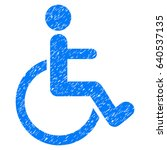grunge disabled person icon... | Shutterstock .eps vector #640537135