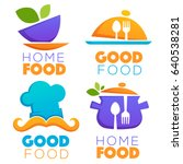 funny and glossy food and... | Shutterstock .eps vector #640538281