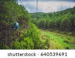 dalat cable car at robin hill ... | Shutterstock . vector #640539691