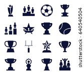 championship icons set. set of... | Shutterstock .eps vector #640540504