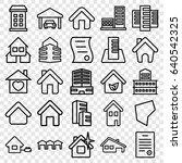 estate icons set. set of 25... | Shutterstock .eps vector #640542325