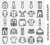 apparel icons set. set of 25... | Shutterstock .eps vector #640543699