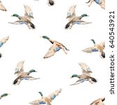 Watercolor Pattern With Flying...