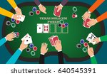 people playing poker around a... | Shutterstock .eps vector #640545391