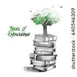 knowledge is growing like tree  ...   Shutterstock .eps vector #640546309