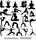 yoga collection 1 vector | Shutterstock .eps vector #64054885