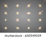 set. shining star  the sun...   Shutterstock .eps vector #640549039