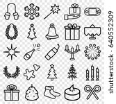 christmas icons set. set of 25... | Shutterstock .eps vector #640552309