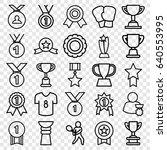 set of 25 champion outline... | Shutterstock .eps vector #640553995