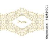 vector gold ornamental ... | Shutterstock .eps vector #640554301
