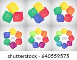 collection of infographic... | Shutterstock .eps vector #640559575
