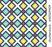 colorful geometric seamless... | Shutterstock .eps vector #640569409