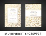 vintage wedding invitation... | Shutterstock .eps vector #640569937