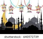 ramadan kareem. greeting card.... | Shutterstock .eps vector #640572739