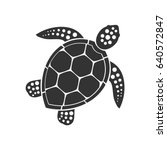 sea turtle icon. vector... | Shutterstock .eps vector #640572847