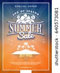 summer sale flyer or banner.... | Shutterstock .eps vector #640573081